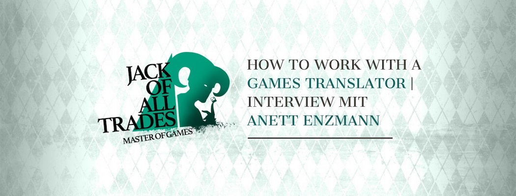 Header Grafik für das Interview mit der Games Translator Anett Enzmann